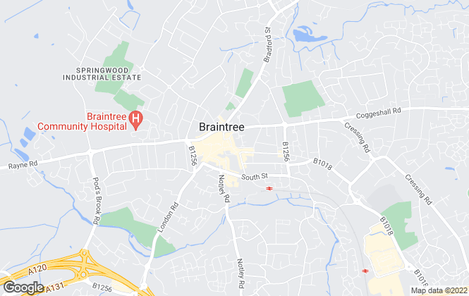 Map for Intercounty Lettings, Braintree