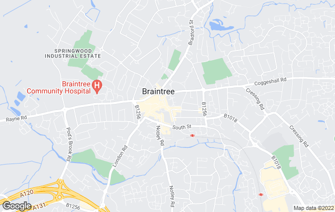 Map for Intercounty, Braintree