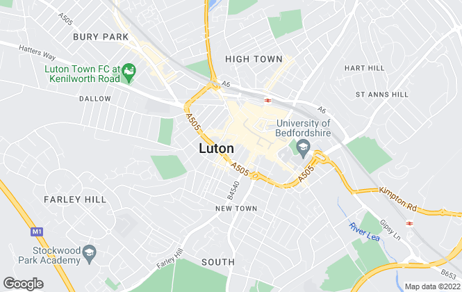 Map for First Choice Property Net, Luton