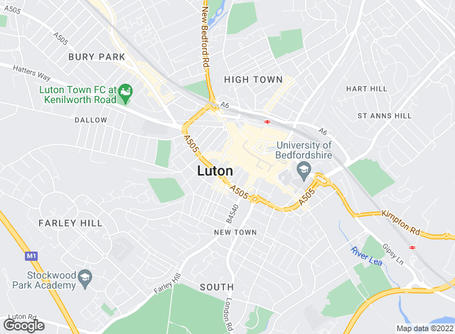 Map for Ultimate Connexions Ltd , Luton