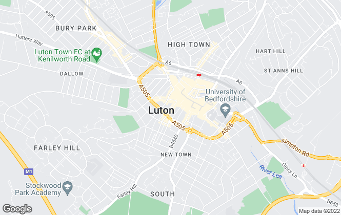 Map for Lenwell Limited, Luton