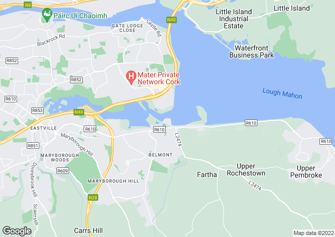 Map for 82 The Sonata, Hartys Quay, Rochestown, Cork, T12 YH56