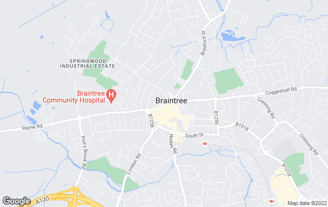 Map for The Letting Shop, Braintree