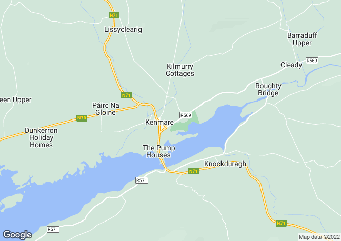 Map for Kerry, Kenmare, Kenmare