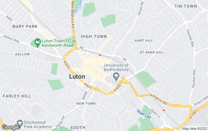 Map for TL Properties, Luton