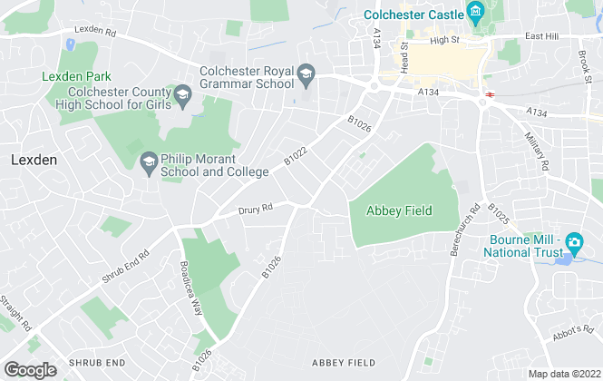 Map for Sophie Yates & Associates, Colchester