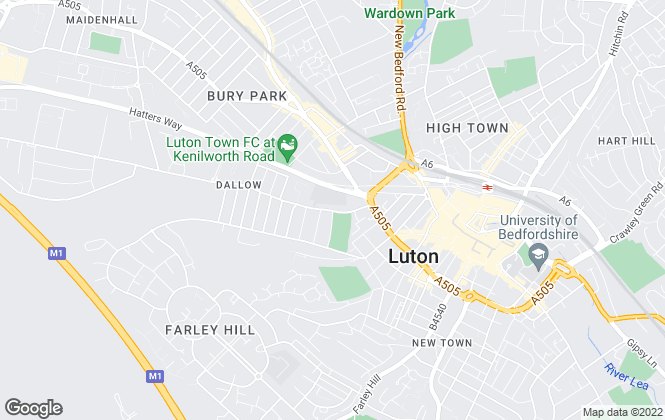 Map for LT Properties, Luton