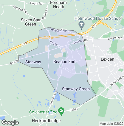 Map of property in Stanway