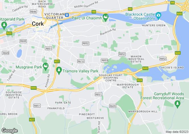 Map for Glenravel, Woodview, Douglas Road, Cork, T12 AY7N