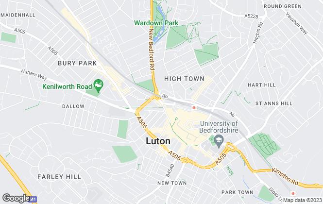 Map for Nu Concept Estate Agents, Luton