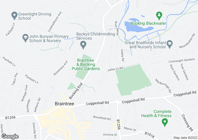 Map for Courtauld Road, Braintree, Essex, CM7 9BE
