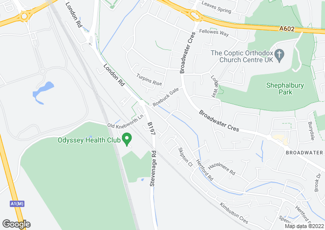 Map for Hertford Road, Stevenage, Hertfordshire, SG2