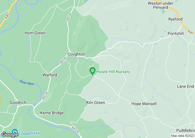 Map for Howle Hill, Ross-on-Wye