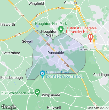 Map of property in Dunstable