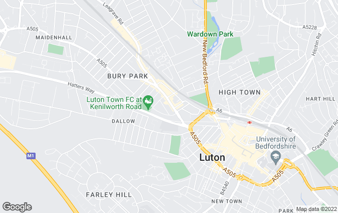 Map for Ideal Properties, Luton - Lettings