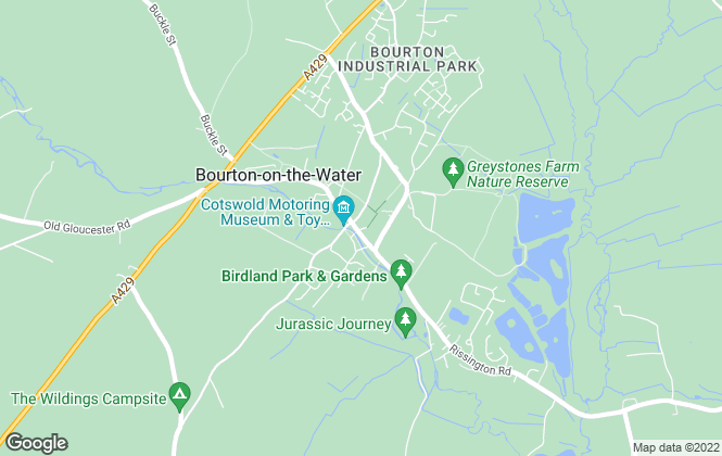 Map for Cotswold Homes Online, Bourton-On-The-Water