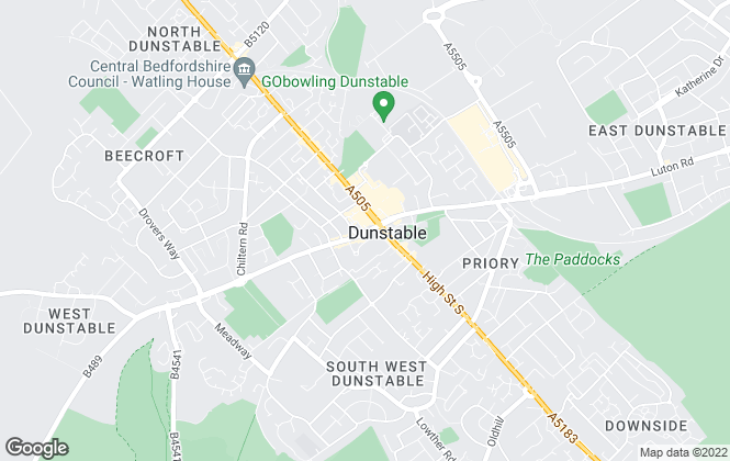 Map for Robinsons, Dunstable