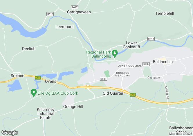 Map for Mossgrove, Classes Lake, Ballincollig, Co Cork