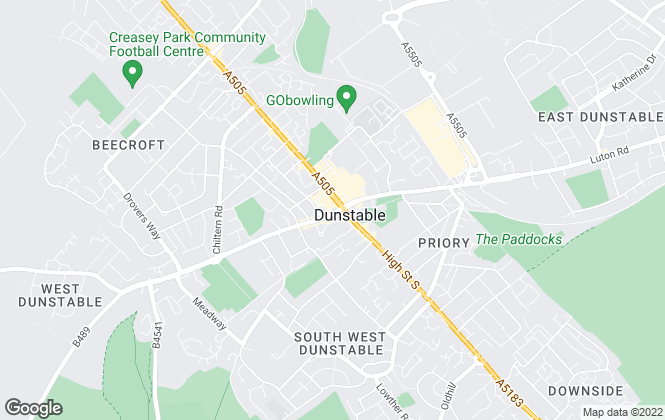 Map for Lenwell Limited, Dunstable