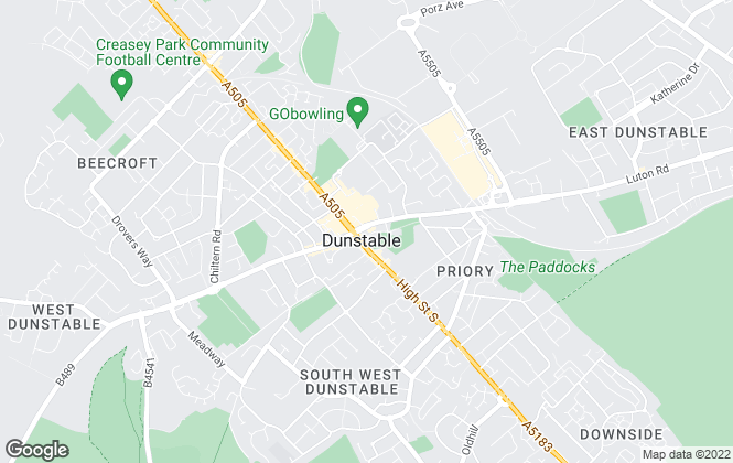 Map for Bradshaws, Dunstable