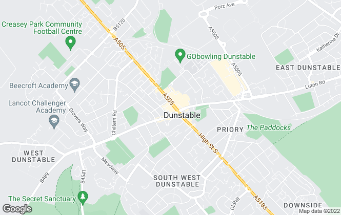 Map for Connells, Dunstable
