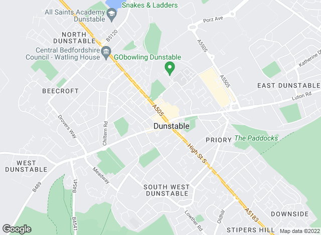 Map for Household Estate Agents, Dunstable