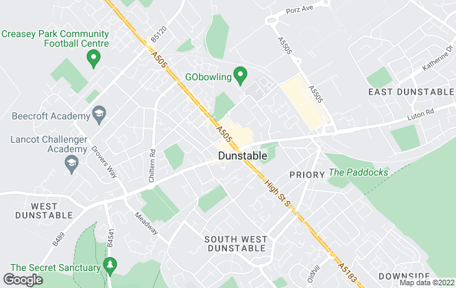 Map for Connells Lettings, Dunstable Lettings