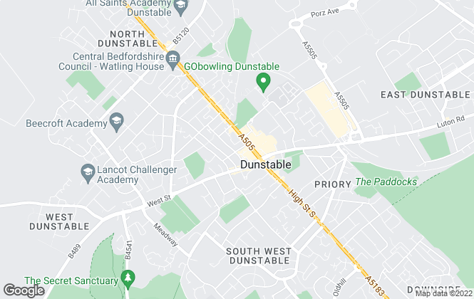 Map for Red & Black, Dunstable