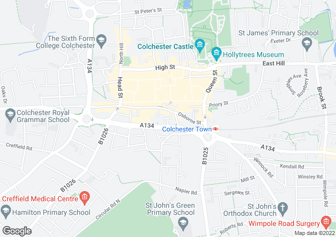 Map for Abbeygate Two, 9, Whitewell Road, Colchester, Essex, CO2 7DE