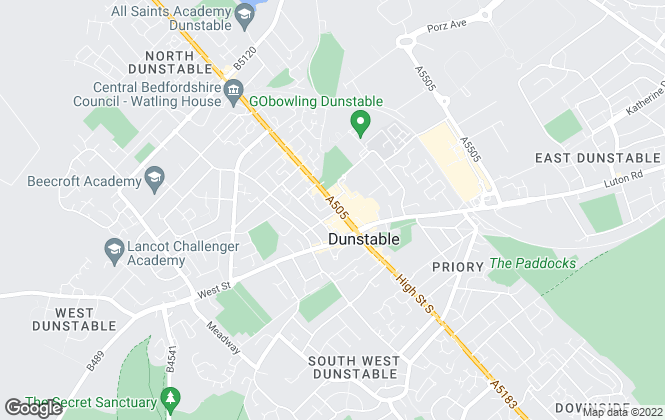 Map for Urban & Rural Property Services, Dunstable