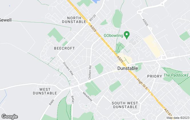 Map for Selective Lets Ltd, Dunstable