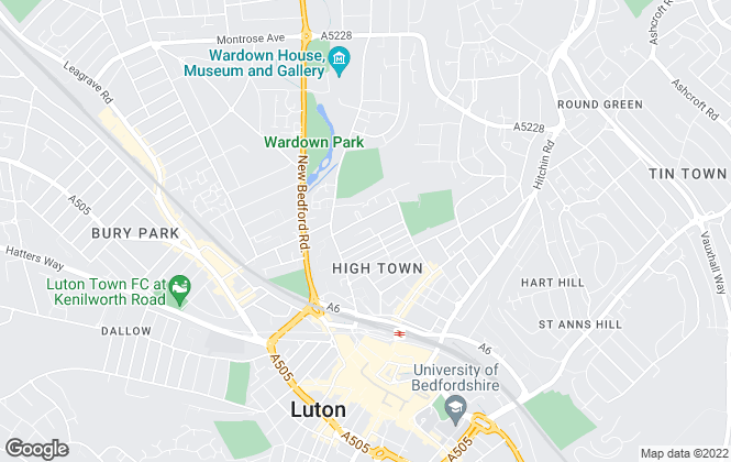 Map for P & R Property, Luton