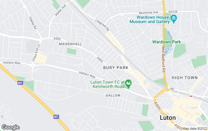 Map for Chiltern Homes, Luton