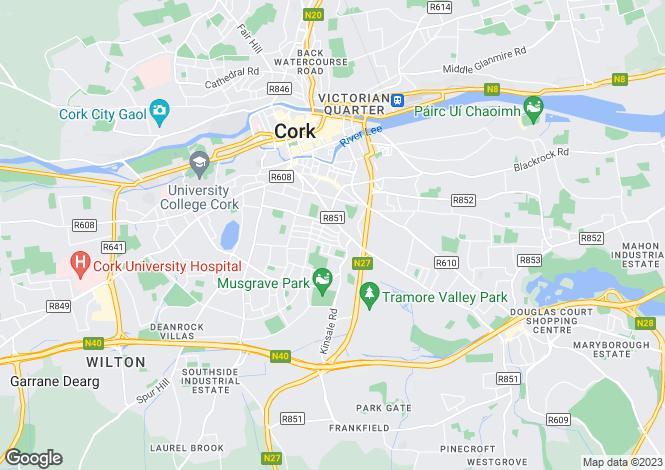 Map for 14 Father Matthew Road, Turners Cross, Cork, T12Y7KK