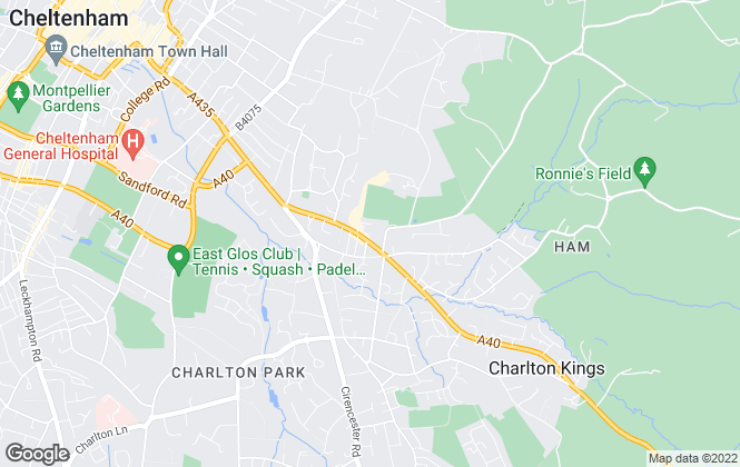 Map for Andrews Estate Agents, Charlton Kings