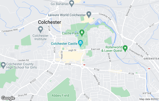 Map for Saxons Estate Agents, Colchester