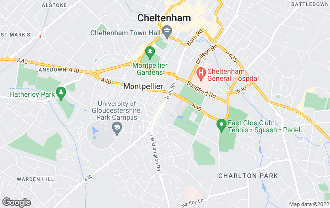 Map for Perry Bishop and Chambers, Leckhampton & Cheltenham