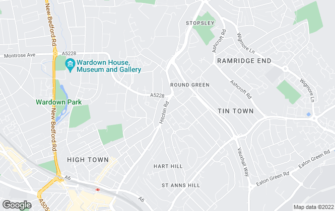 Map for Penrose Estate Agents, Luton