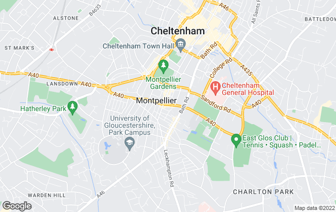 Map for Falcon Lettings, Cheltenham