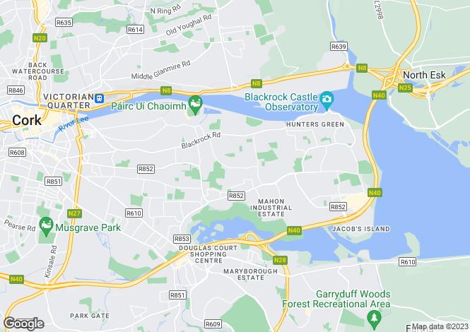 Map for Beaumont, Blackrock, Cork