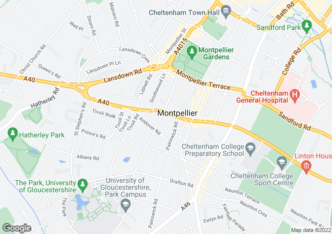 Map for Suffolk Road, Cheltenham, Gloucestershire