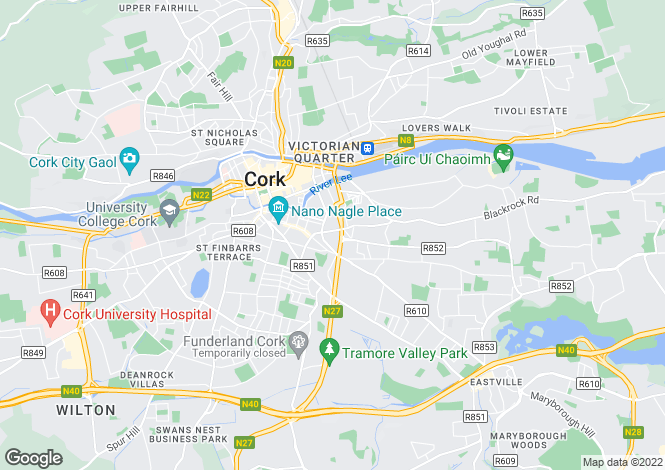 Map for 30 Fitzgerald Place, City Centre Sth, Cork City