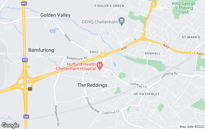 Map for Pure Offices Ltd, Cheltenham