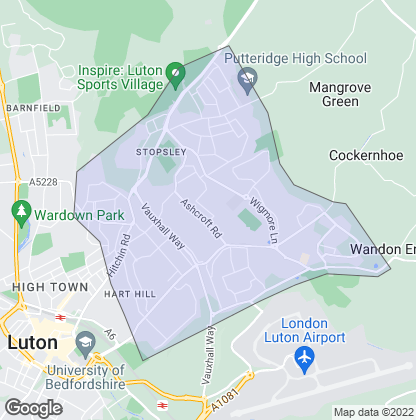 Map of property in Stopsley