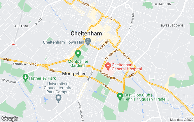 Map for Nick Griffith Estate Agents, Cheltenham