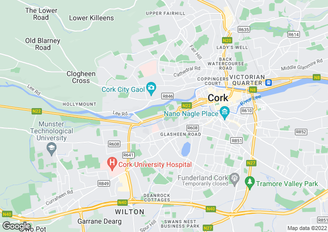 Map for 12 Homeville, Western Road, Cork City, Cork