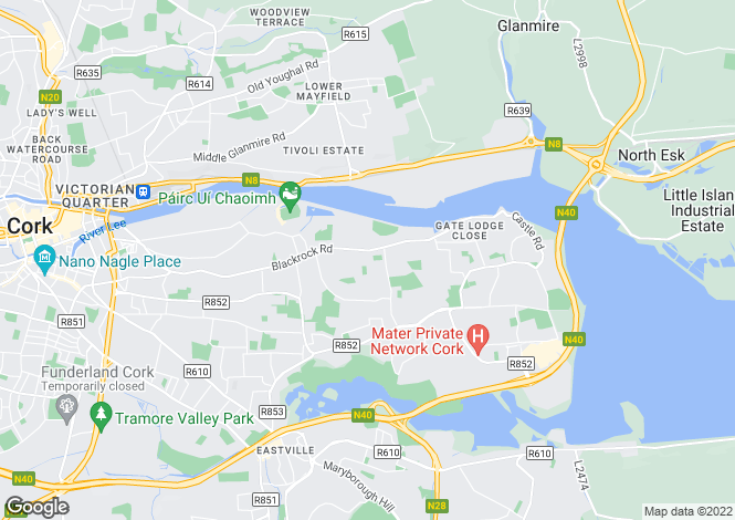 Map for 5 Menloe Park, Blackrock, Cork, T12 H9F2