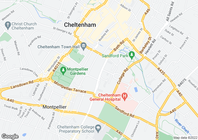 Map for Bath Road (rooms), Cheltenham