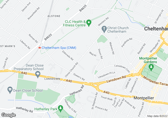 Map for Lansdown GL50 2PL