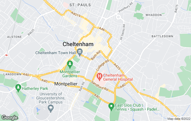 Map for PEACE PENNELS LIMITED LIABILITY PARTNERSHIP, Cheltenham